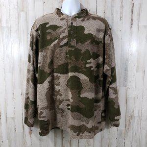 Cabela's Mens Shirt Camouflage Berber Fleece Shirt